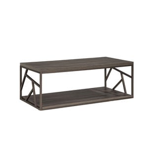 Intercon Studio Living Dark Weathered Grey and Metal Cocktail Table