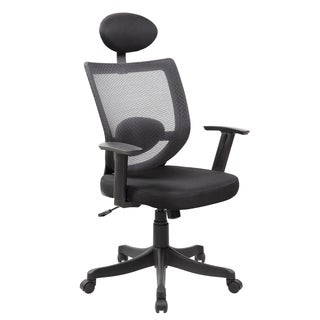 Technical Grey Mesh/Metal Executive Task Chair