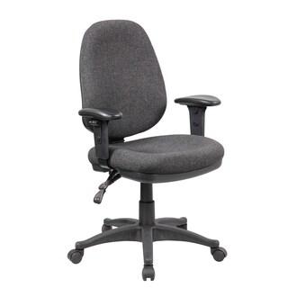 Work Smart Grey Ergonomic Ratchet-back Adjustable Office Chair