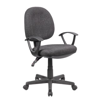 Work Smart Grey Multi-function Ergonomic Computer Office Chair With Ratchet Back (1004-GR)