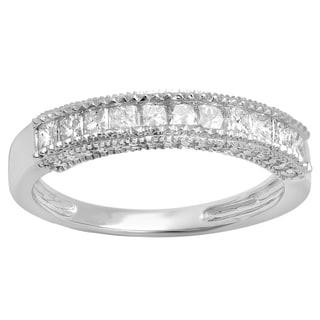 Elora 10k Gold 3/4ct TDW Diamond Anniversary or Wedding Band (H-I, I1-I2)