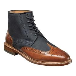 Men's Florsheim Heritage Wingtip Boot Cognac Smooth/Navy