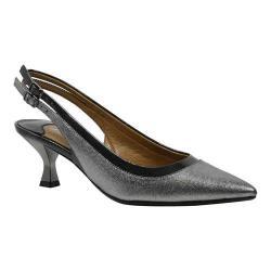 Women's J. Renee Kenlie Mid Heel Slingback Pewter Patent Frise