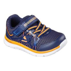 Boys' Skechers Flexies Fast Stepz Sneaker Navy/Orange