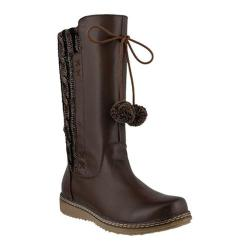 Women's Spring Step Silves Boot Dark Brown Leather/Textile