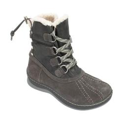Women's White Mountain Emory Snow Boot Dark Charcoal Multi Suede