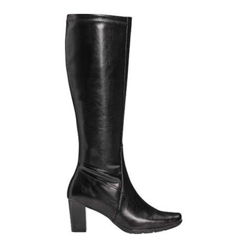 s a2 by aerosoles lemonade knee high boot black faux