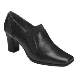 Women's A2 by Aerosoles Diamond Ring Shoe Bootie Black Faux Leather