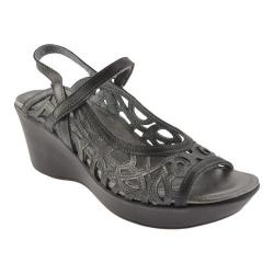 Women's Naot Deluxe Metallic Road Leather/Brushed Black Leather