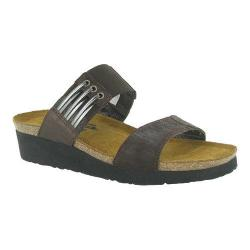 Women's Naot Lena Mine Brown Leather/Brown Shimmer Nubuck