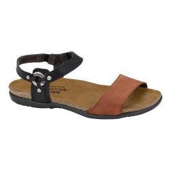 Women's Naot Sabrina Jet Black Leather/Hawaiian Brown Nubuck