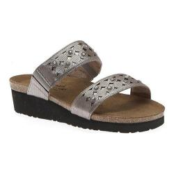 Women's Naot Susan Silver Threads Leather/Glass Silver
