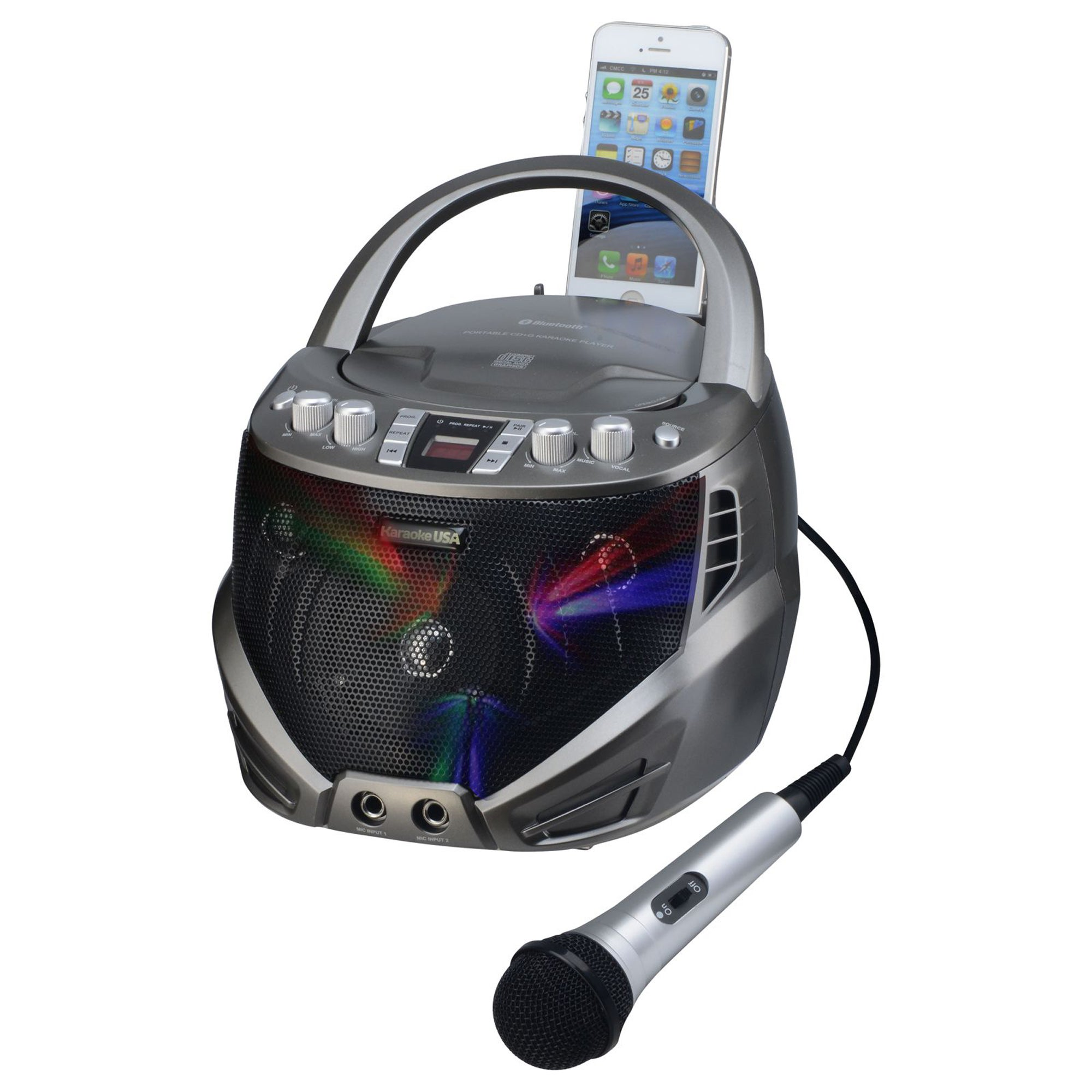 DOK GQ263 Portable CDG Karaoke Player with Flashing LED Lights