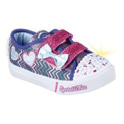 Girls' Skechers Sprinkle Toes Skippers Polkadot Doodles Sneaker Denim/Multi