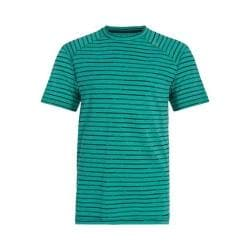 Men's tasc Performance Carrollton Performance Crew Maldives Heather/Gunmetal Rayon from Bamboo Stripe