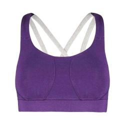 Women's tasc Performance TTFN (Ta Ta For Now) Studio Sports Bra Plumberry/Ash Heather