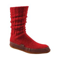 Acorn Slipper Sock Crimson Ragg Wool