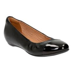 Women's Clarks Alitay Susan Ballet Flat Black Full Grain Leather/Polyurethane