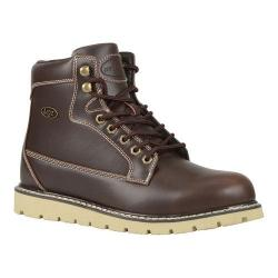 Men's Lugz Gravel HI Work Boot Oxblood/Cream Perma Hide