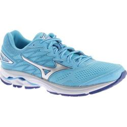 Women's Mizuno Wave Rider 20 Running Shoe Blue Atoll/Silver