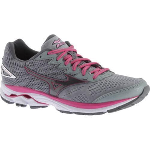 Women's Mizuno Wave Rider 20 Running Shoe Gunmetal/Fuchsia Purple