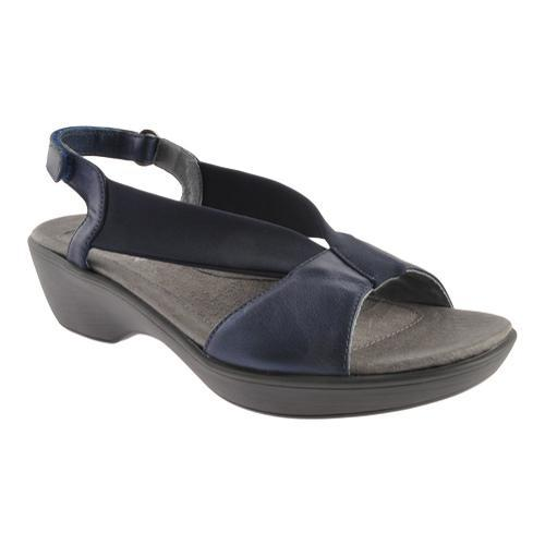 15fba0fc8219 Shop Women s Naot Muscat Polar Sea Leather Navy Stretch - Free Shipping  Today - Overstock.com - 13156173