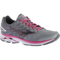 Women's Mizuno Wave Rider 20 Running Shoe Gunmetal/Fuchsia Purple - Thumbnail 0