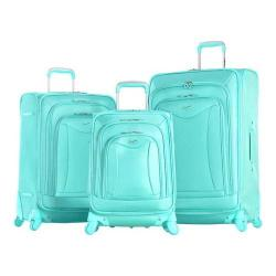 Olympia Luxe 3 Piece Luggage Set Mint