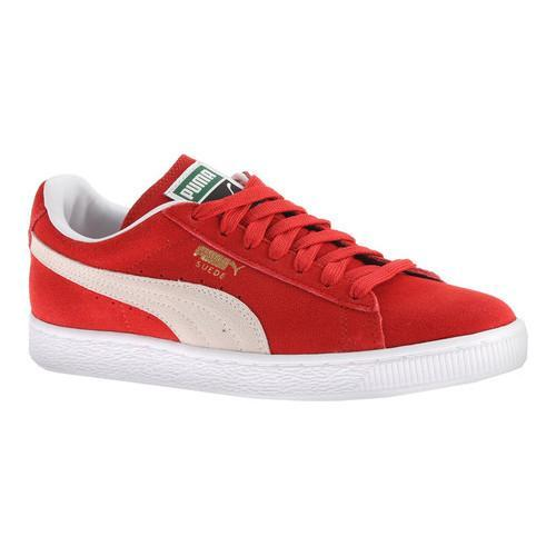 Shop Women s PUMA Suede Classic+ Sneaker High Risk Red White - Free  Shipping Today - Overstock - 13156241 9179bf5026
