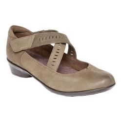 Women's Rockport Cobb Hill Victoria Cross Strap Shoe Dark Green Full Grain Leather