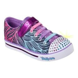 Girls' Skechers Twinkle Toes Sparkle Glitz Sneaker Denim/Multi
