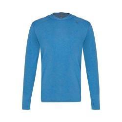 Men's tasc Performance Coastline Hooded Long Sleeve Heathered Shirt Blue Heather