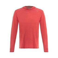 Men's tasc Performance Coastline Hooded Long Sleeve Heathered Shirt Red Heather