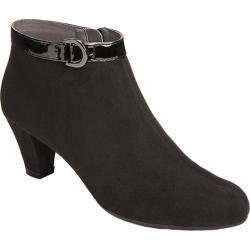 Women's A2 by Aerosoles Shore Enough Shoe Bootie Black Faux Suede/Leather Fabric