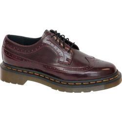 Women's Dr. Martens 3989 Wingtip Shoe Cherry Red Cambridge Brush