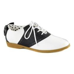 Women's Funtasma Saddle 53 Saddle Shoe Black/White Polyurethane