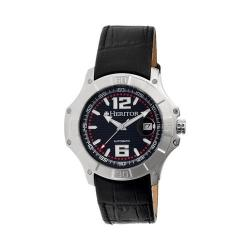 Men's Heritor Automatic HR3001 Norton Watch Black Crocodile Leather/Black/Silver