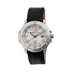 Men's Heritor Automatic HR3002 Norton Watch Black Crocodile Leather/Silver/Black