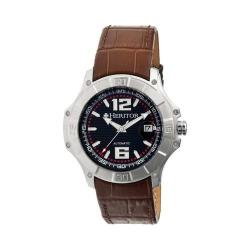 Men's Heritor Automatic HR3003 Norton Watch Brown Crocodile Leather/Black/Silver