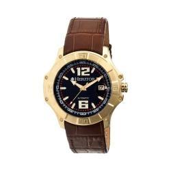 Men's Heritor Automatic HR3005 Norton Watch Brown Crocodile Leather/Black/Gold