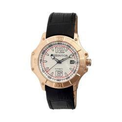Men's Heritor Automatic HR3007 Norton Watch Black Crocodile Leather/Silver/Black