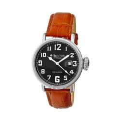 Men's Heritor Automatic HR3204 Olds Watch Camel Crocodile Leather/Silver/Black