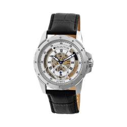 Men's Heritor Automatic HR3401 Armstrong Watch Black Crocodile Leather/Silver/Blue