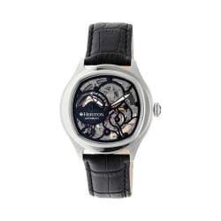 Men's Heritor Automatic HR3704 Odysseus Watch Black Crocodile Leather/Black/Black