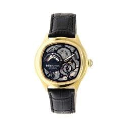 Men's Heritor Automatic HR3706 Odysseus Watch Black Crocodile Leather/Black/Black