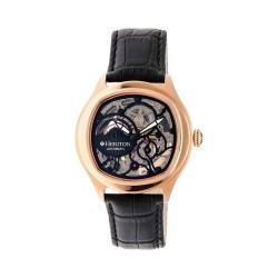 Men's Heritor Automatic HR3708 Odysseus Watch Black Crocodile Leather/Black/Black