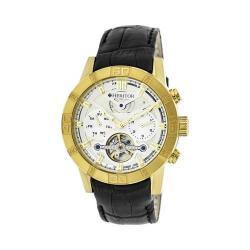 Men's Heritor Automatic HR4103 Hamilton Watch Black Crocodile Leather/Silver/Gold