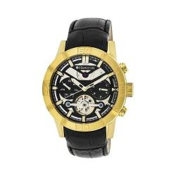 Men's Heritor Automatic HR4104 Hamilton Watch Black Crocodile Leather/Black/Gold