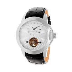 Men's Heritor Automatic HR4201 Windsor Watch Black Crocodile Leather/Silver/Gunmetal