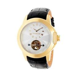 Men's Heritor Automatic HR4203 Windsor Watch Black Crocodile Leather/Silver/Gold